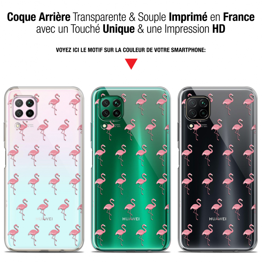 "Extra Slim Gel Huawei P40 Lite (6.4"") Case Pattern Les flamants Roses"