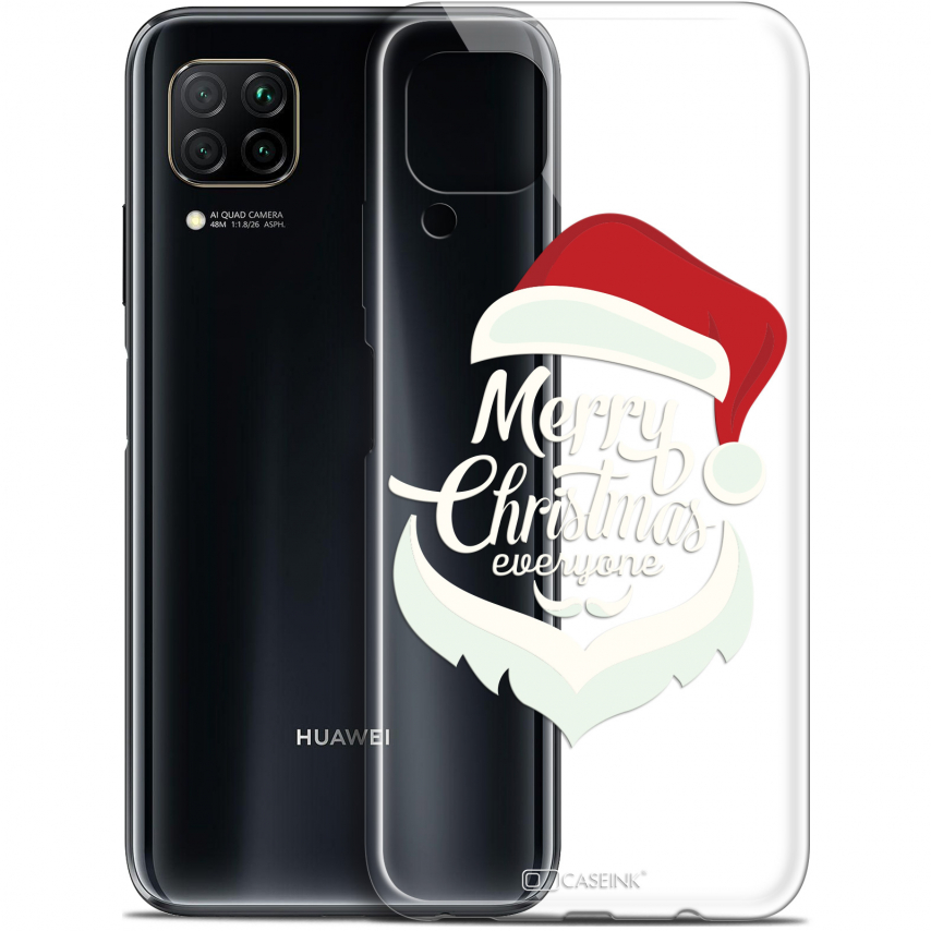 "Extra Slim Gel Huawei P40 Lite (6.4"") Case Noël 2017 Merry Everyone"
