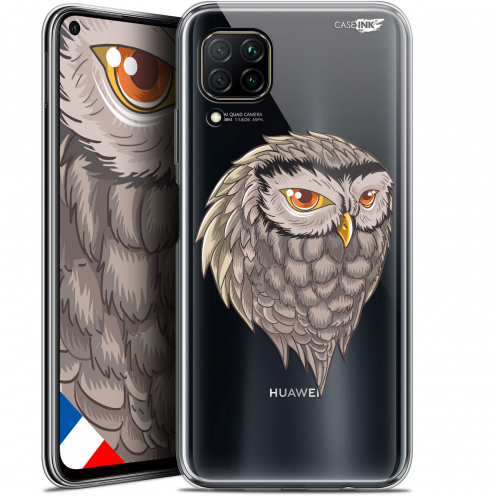 "Extra Slim Gel Huawei P40 Lite (6.4"") Case Design Hibou Draw"