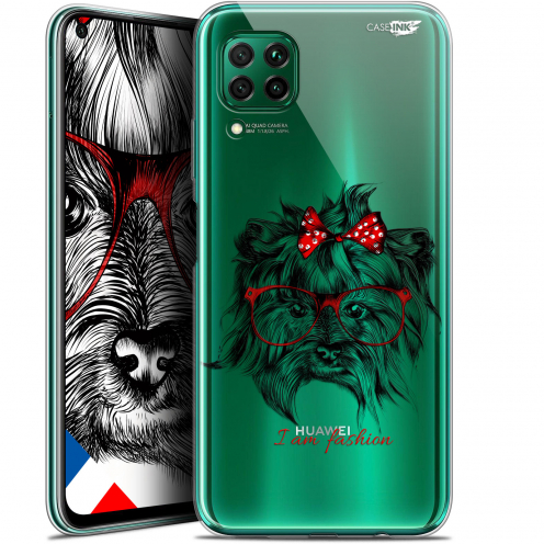 "Extra Slim Gel Huawei P40 Lite (6.4"") Case Design Fashion Dog"