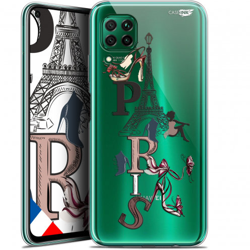 "Extra Slim Gel Huawei P40 Lite (6.4"") Case Design Stylish Paris"
