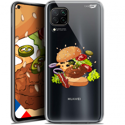 "Extra Slim Gel Huawei P40 Lite (6.4"") Case Design Splash Burger"