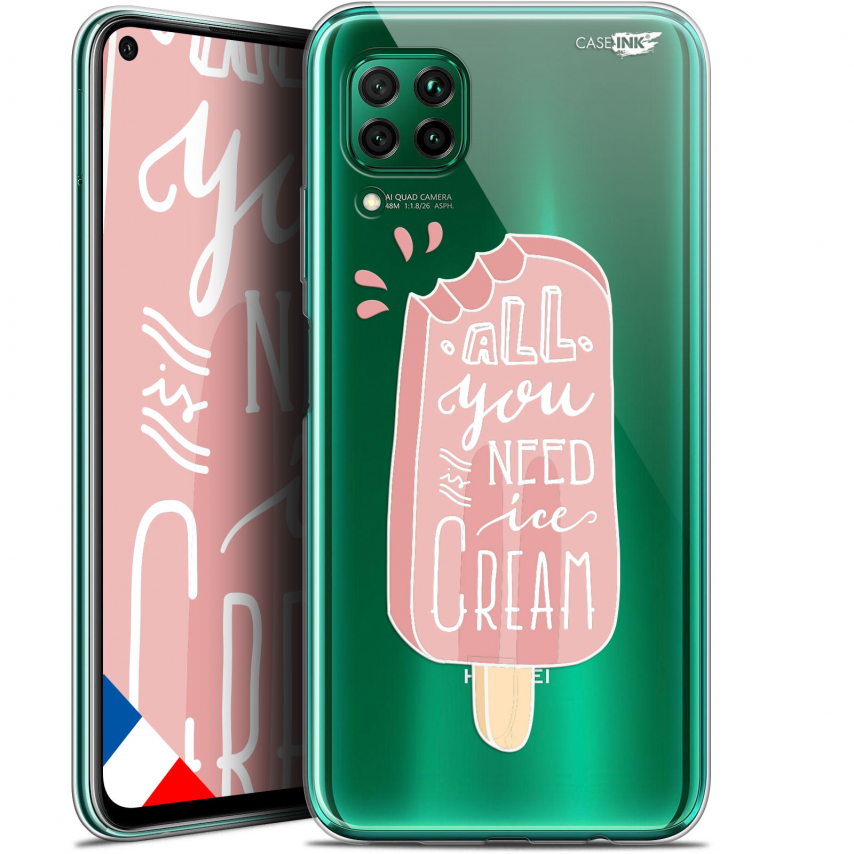 "Extra Slim Gel Huawei P40 Lite (6.4"") Case Design Ice Cream"