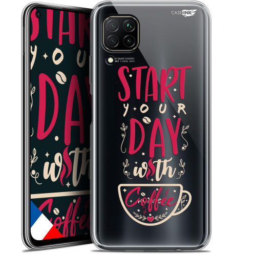 "Extra Slim Gel Huawei P40 Lite (6.4"") Case Design Start With Coffee"