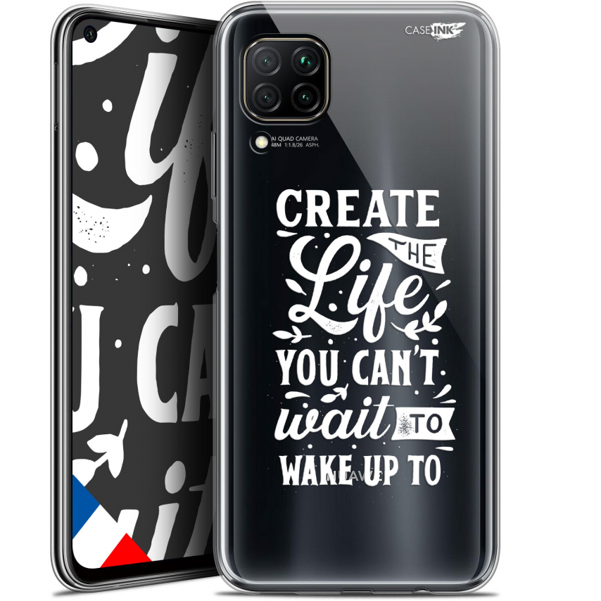 "Extra Slim Gel Huawei P40 Lite (6.4"") Case Design Wake Up Your Life"