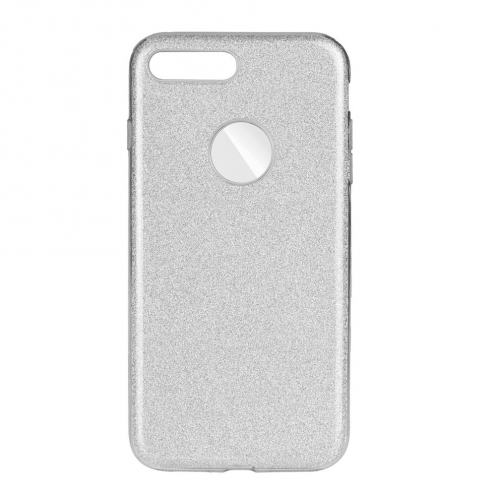 Forcell SHINING Case for iPhone 7 Plus / 8 Plus silver