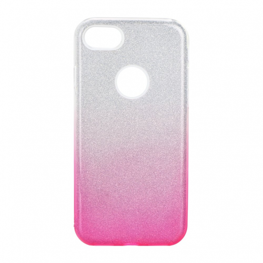 Forcell SHINING Case for iPhone 7 / 8 / SE 2020 clear/pink