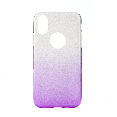 Forcell SHINING Case for Huawei P40 LITE E Transparent/violet