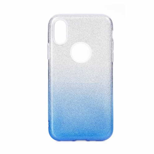 Forcell SHINING Case for Huawei P40 LITE E clear/blue