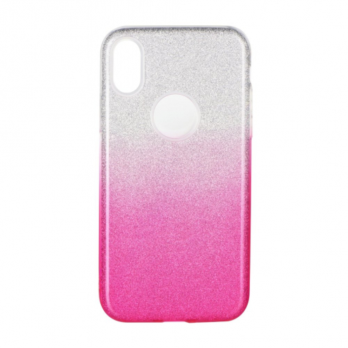 Forcell SHINING Case for Huawei P40 LITE E clear/pink