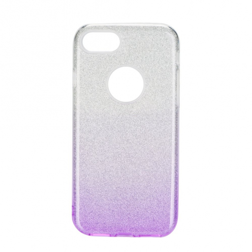 Forcell SHINING Case for iPhone 7 / 8 / SE 2020 clear/violet