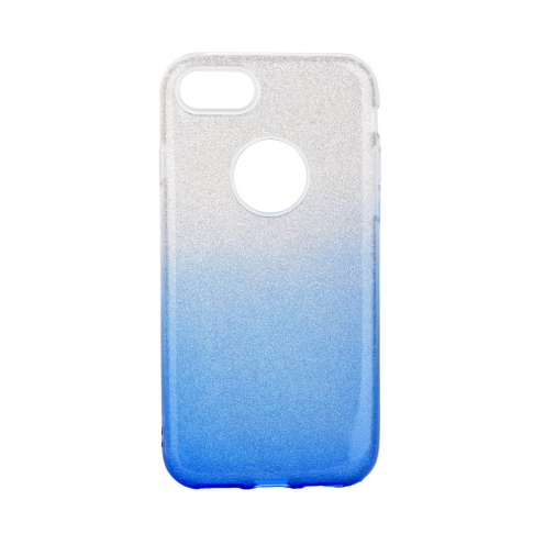 Forcell SHINING Case for iPhone 7 / 8 / SE 2020 clear/blue