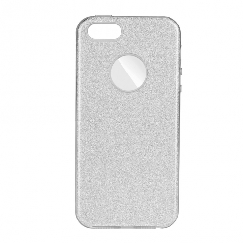 Forcell SHINING Case for Samsung Galaxy A40 silver