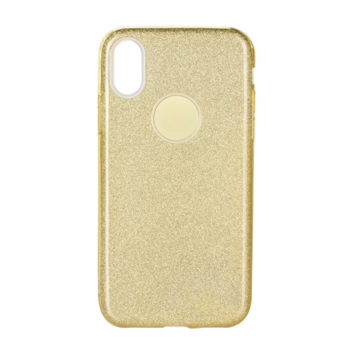 Forcell SHINING Case for Samsung Galaxy A40 gold