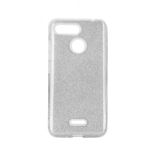 Forcell SHINING Case for Xiaomi Redmi Note 9 silver