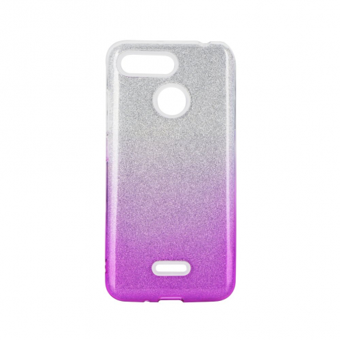 Forcell SHINING Case for Xiaomi Redmi 9 clear/pink
