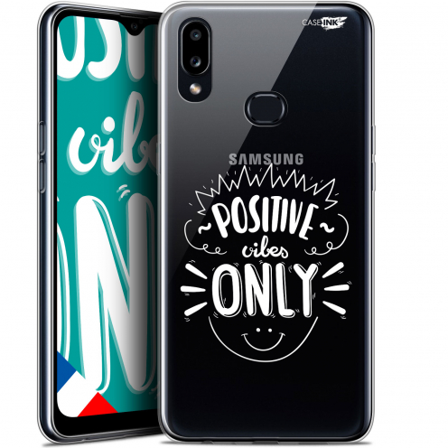 """Extra Slim Gel Samsung Galaxy A10S (6.1"""") Case Design Positive Vibes Only"""