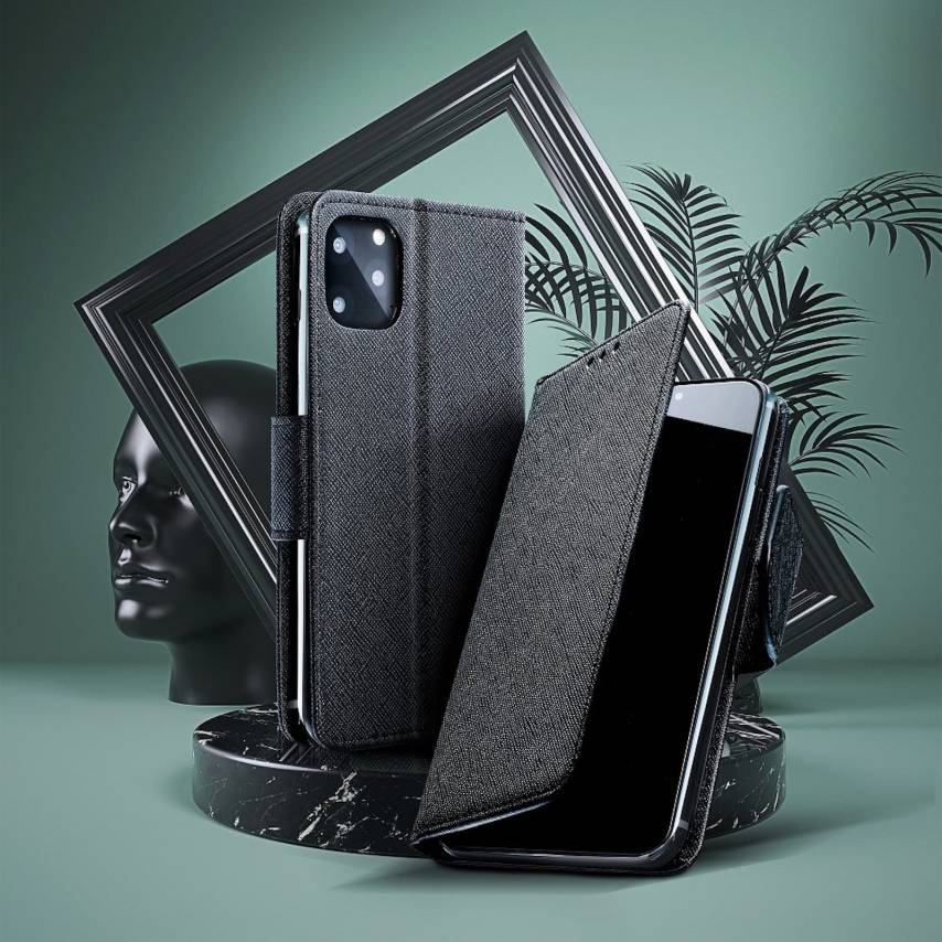 Fancy Book case for Samsung A40 black