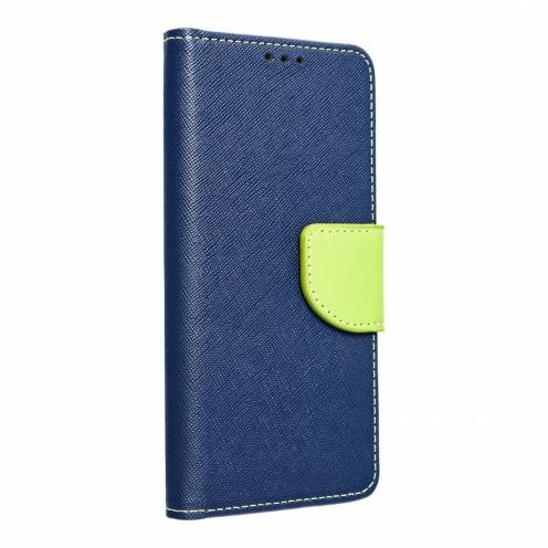 Fancy Book case for Samsung A40 navy/lime