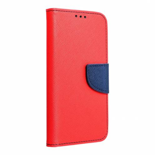 "Fancy Book case for Apple iPhone X / XS (5,8"") red/navy"