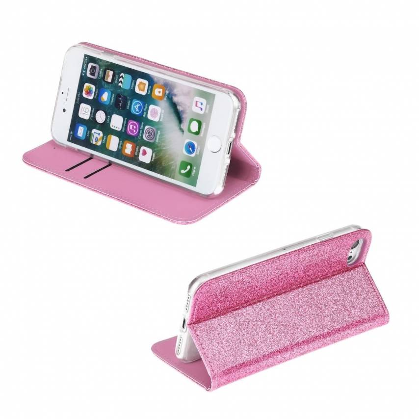 SHINING Book for Samsung A40 light pink