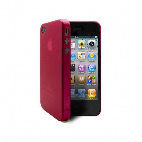 Ultra thin Case 0.3 mm Frost iPhone 4 / 4 Fuchsia
