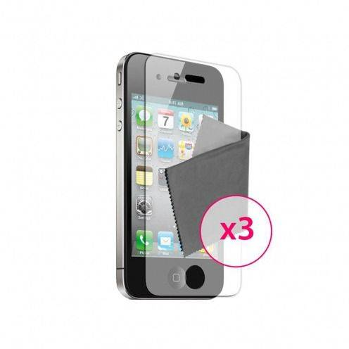 Anti-Fingerprints Screen protector for iPhone 4/4S Clubcase ® set of 3