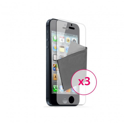 Pack of 3 Anti-Fingerprints Screen protector for iPhone 5 / 5S / SE Clubcase ®