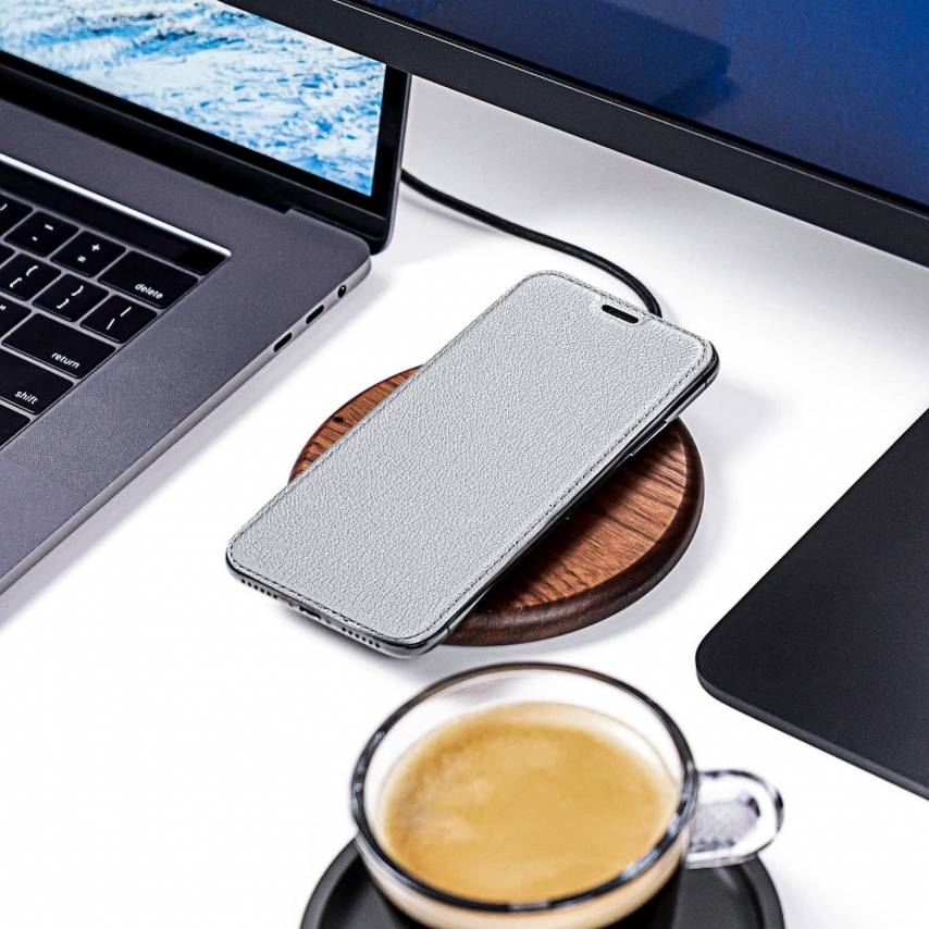 Forcell ELECTRO BOOK case for Samsung A40 silver