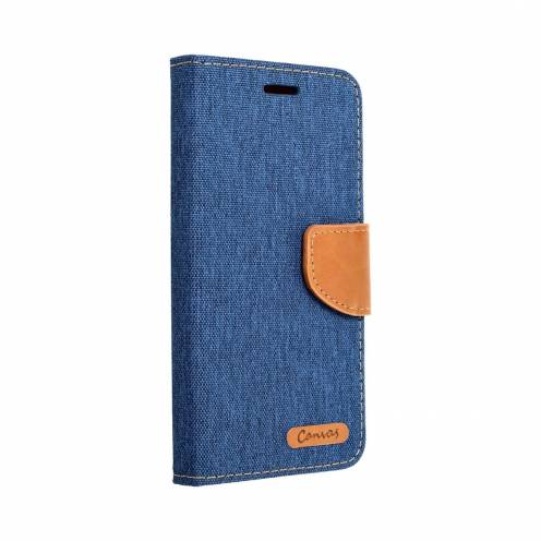 Canvas Book case for Apple iPhone 6/6S blue
