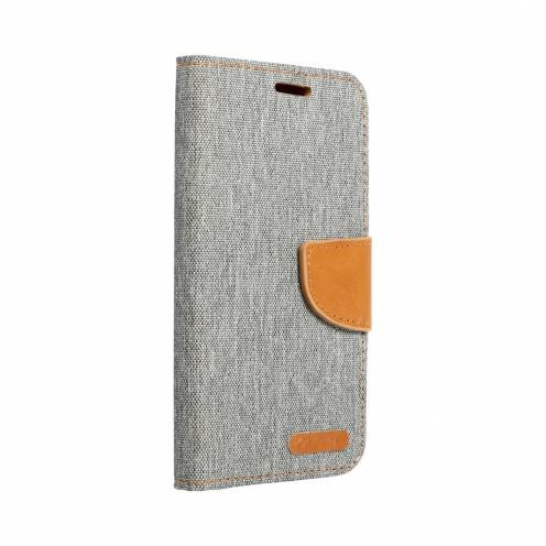 Canvas Book case for Huawei P20 Lite gray