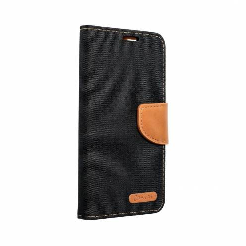 Canvas Book case for Samsung A40 black