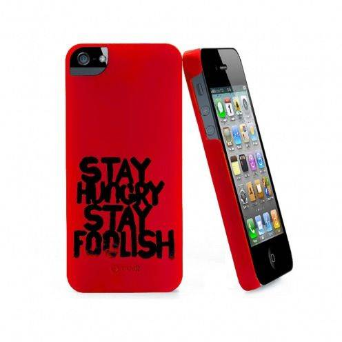 Muvit ® Stay Hungry Stay Foolish case red for iPhone 5
