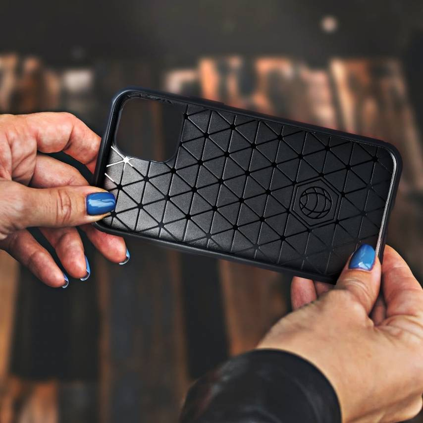 Forcell CARBON Case for Samsung Galaxy A40 black