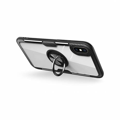Forcell CARBON CLEAR RING Case for Xiaomi Redmi Note 9 black
