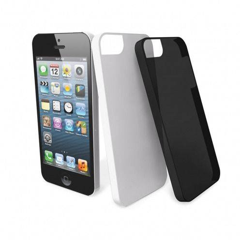 2 Muvit ® Cases Ultra Thin Black White for iPhone 5 / 5S / SE