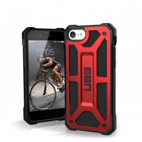 ( UAG ) Urban Armor Gear Monarch pour iPhone 7 / 8 / SE 2020 Rouge