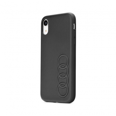 Original AUDI Leather Case AU-TPUPCIPXR-TT/D1-BK iPhone Xr black
