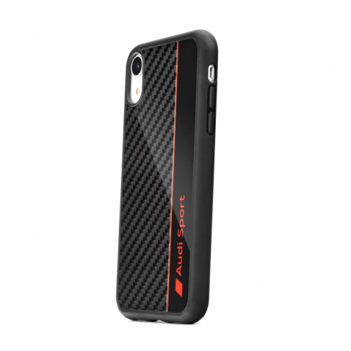 Original AUDI Carbon Fibre Case AUS-TPUPCIPXR-R8/D1-BK iPhone Xr black