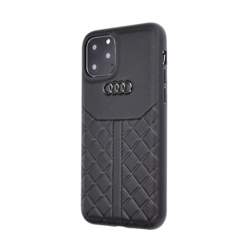 Original AUDI Leather Case AU-TPUPCIP11M-Q8/D1-BK iPhone 11 Pro Max black