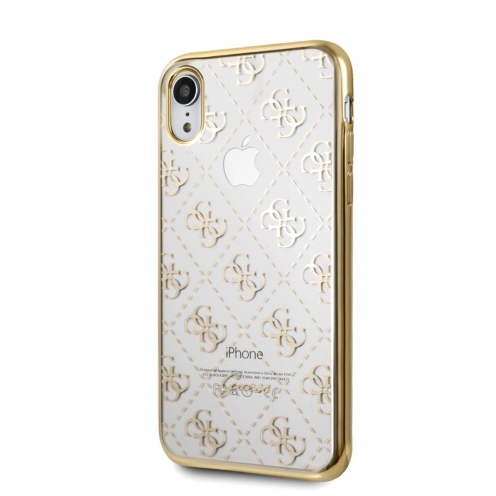 Original faceplate case GUESS GUHCI61TR4GG iPhone XR gold - transparent