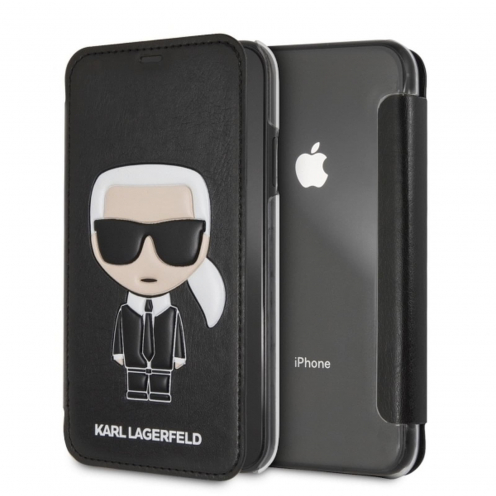 Original faceplate case KARL LAGERFELD KLFLBKI61IKPUBK iPhone XR black