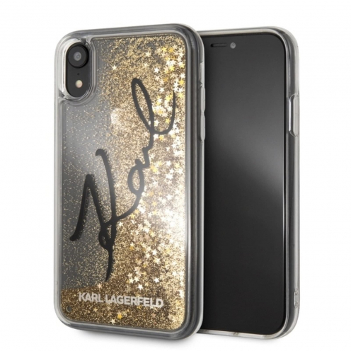 Original faceplate case KARL LAGERFELD KLHCI61TRKSIGGO iPhone XR gold