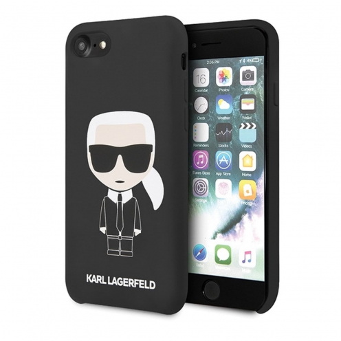 Original faceplate case Karl Lagerfeld© KLHCI8SLFKBK iPhone 7/8 black