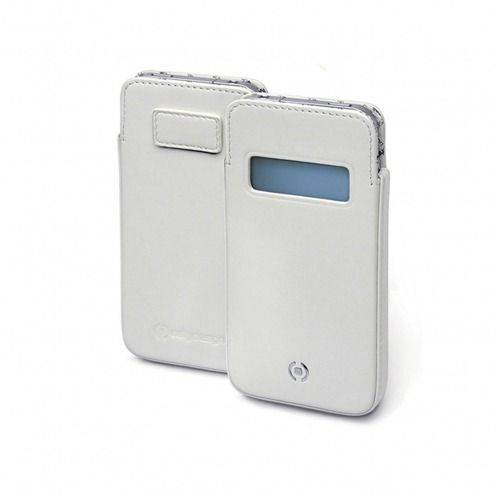 Genuine Leather pouch Cellydesign ® white Win for iPhone 5