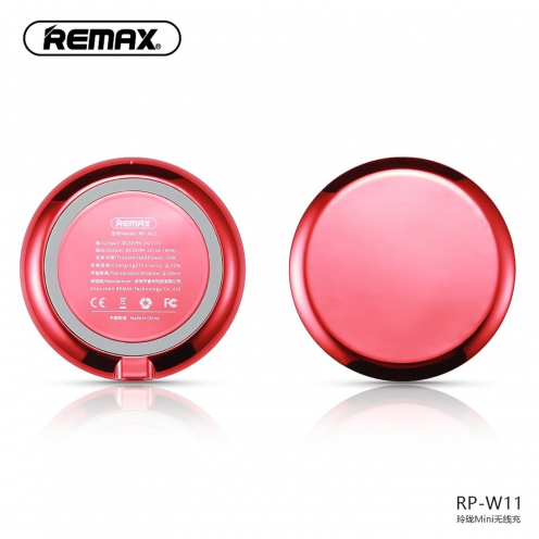 REMAX wireless charger Linion Quick Charge Qi RP-W11 red