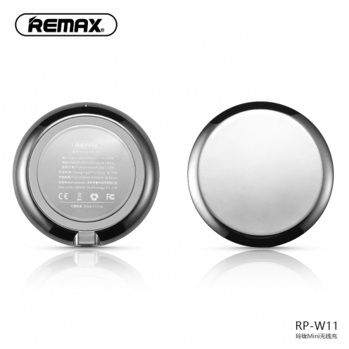 REMAX wireless charger Linion Quick Charge Qi RP-W11 silver