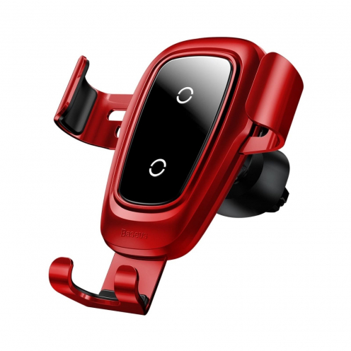 BASEUS car holder Metal Wireless Charger Gravity CarMount (Air Outlet Version) Red WXYL-B09