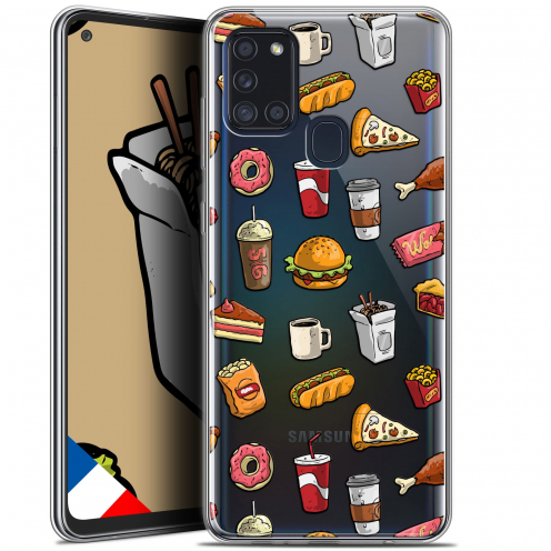 "Extra Slim Gel Samsung Galaxy A21S (6.5"") Case Foodie Fast Food"