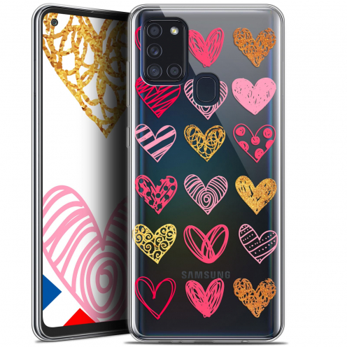 "Extra Slim Gel Samsung Galaxy A21S (6.5"") Case Sweetie Doodling Hearts"